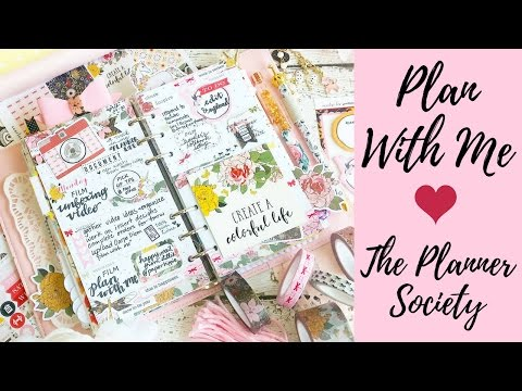 Personal Horizontal Plan With Me | Creative Planning | Webster's Pages in Filofax | Planner Society