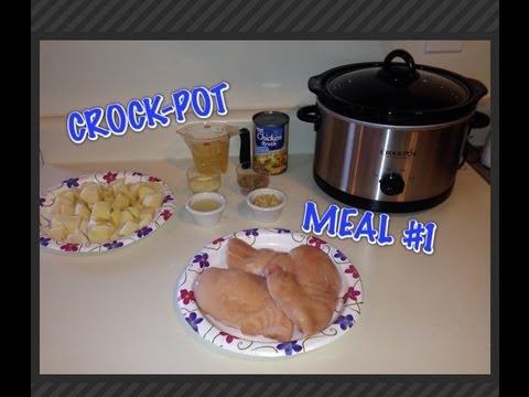 Crockpot Lemon Garlic Chicken ,Potatoes & Carrots
