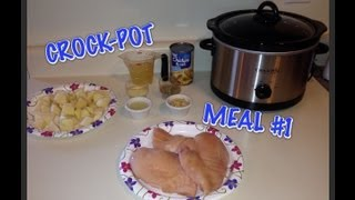 Crockpot Lemon Garlic Chicken ,potatoes & Carrots