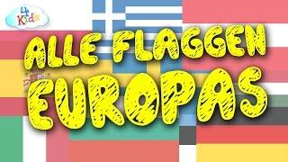 Flaggen der Länder Europas für Kinder zum lernen (deutsch)