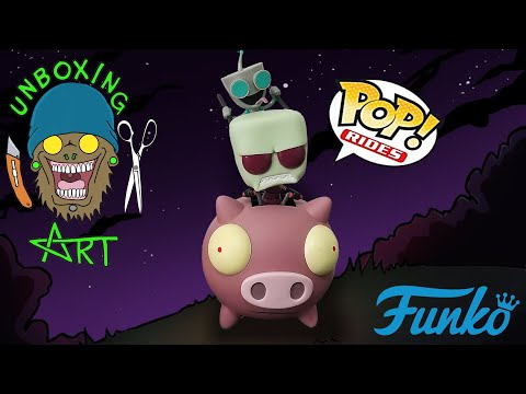 Funko Pop! Rides #41 Invader Zim: Zim & Gir on The Pig Hot Topic Exclusive Unboxing and Review