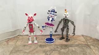 FNAF SL Funtime Foxy, Ballora + Bonus Ennard Funko figure Reviews!