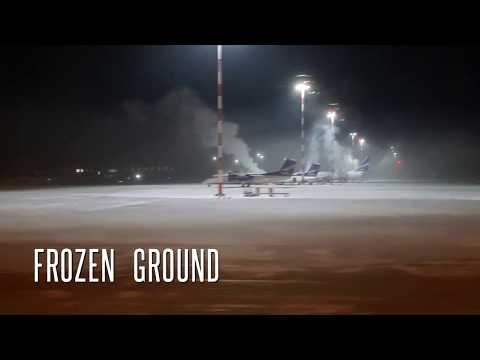 Landing at coldest airport on earth Yakutsk with temperature - 40 degree celcius