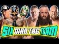 Rey Mysterio & John Cena & Kalisto VS Brock Lesnar & Braun Strowman & Big Show | WWE 2K17