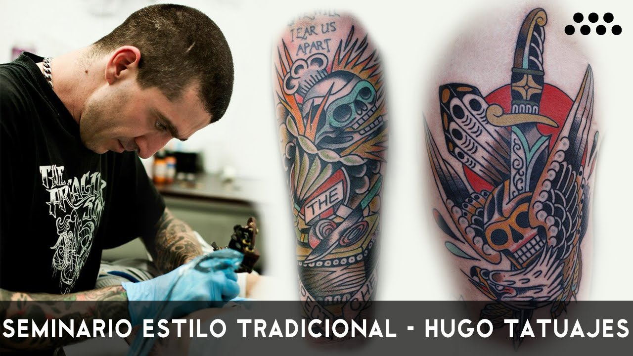 Tatuaje Tradicional Americano hugo tatuajes versus arte sano tattoo supplies - youtube