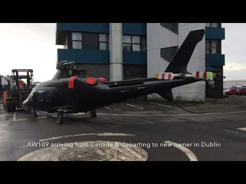 AW109 Helicopter shipping from Canada to Dublin