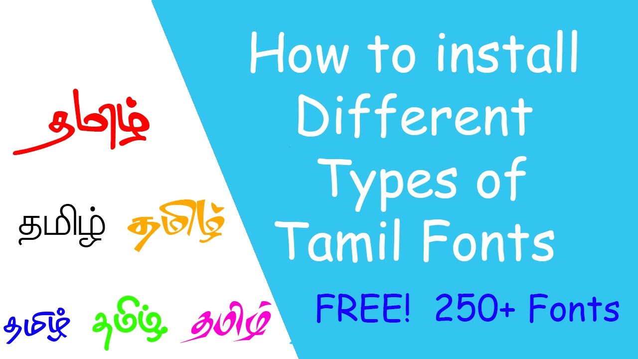 tamil fonts for photoshop