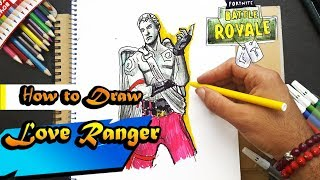How to Draw the Love Ranger | Fortnite | BATTLE ROYAL | (step by step) Easy