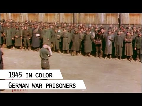 German war prisoners, 1945 (in color)
