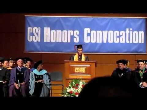 Daniel Feldman Salutatorian Speech - CUNY College of Staten Island - Class of 2012