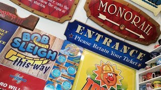 My Theme Park Memorabilia - Signage & Large Items