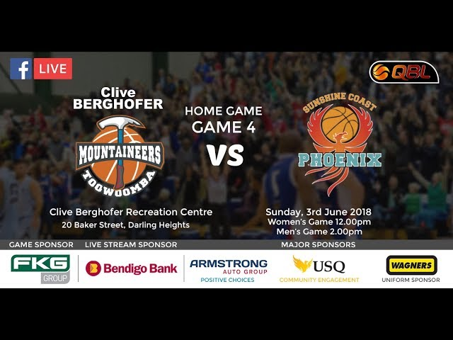 USQ QBL Home Game 4 - Mountaineers vs Sunshine Coast Phoenix