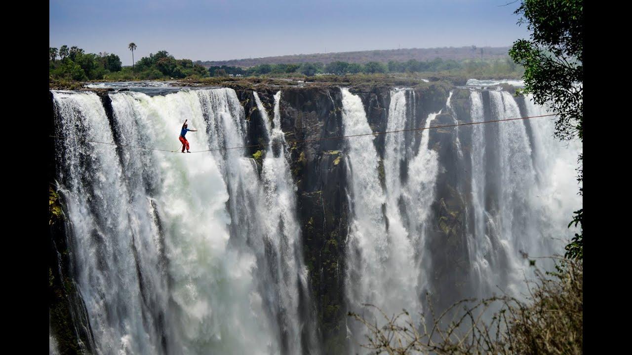 Victoria Falls Live Wallpaper Adidas Outdoorsportsteam Slacklining At Victoria Falls