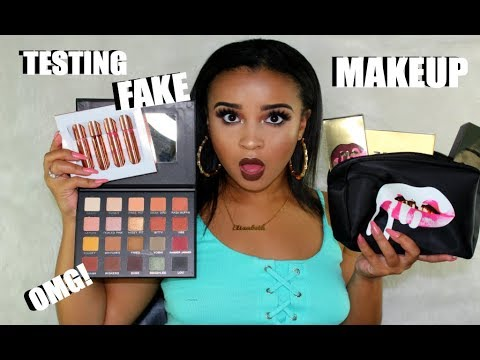 Trying Out FAKE Makeup (SUCCESS) pt. 1   Kylie Cosmetics, KKW, & Violet Voss