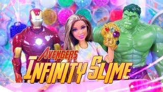 DIY - How to Make: Avengers INFINITY SLIME Custom Slime Craft | Sophie's Vlog
