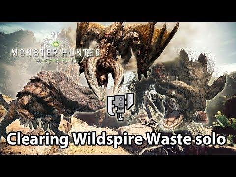 MHWorld Beta | Taking down Diablos, Jyuratodus & Barroth in one quest (solo)
