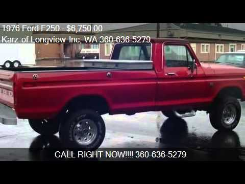 F250 For Sale >> 1976 Ford F250 F 250 4X4 HIGH BOY - for sale in Longview, WA - YouTube