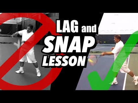 How to Lag and Snap for Easy Forehand POWER - Tennis Lesson