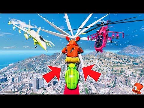 FOXYS HARDEST DEATHRUN EVER! (GTA 5 Mods For Kids FNAF Funny Moments) RedHatter