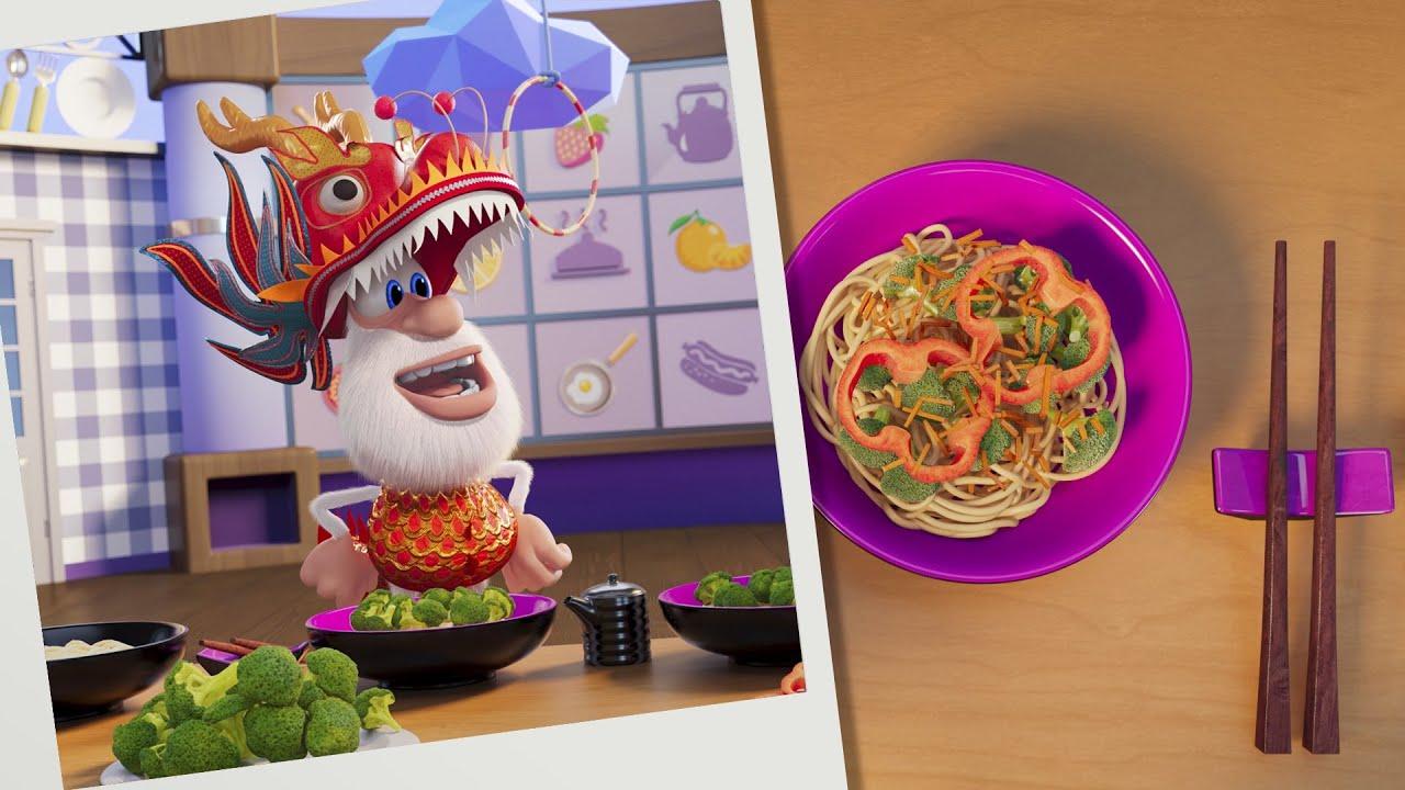 بوبا 🐲 لغز الطعام: مطبخ صيني 🍜 كارتون مضحك للأطفال