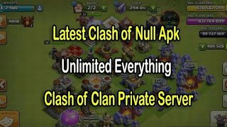 Clash of clans hack(ultimate money)Null of townhole Android