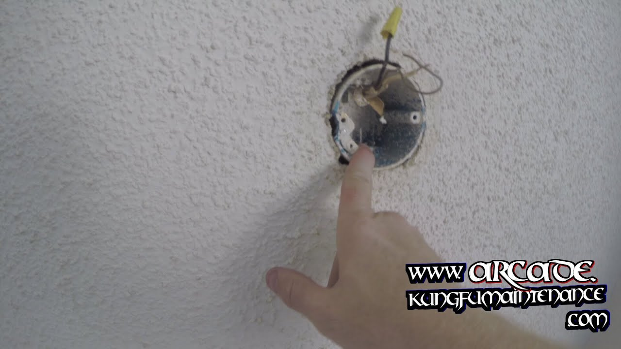 How To Replace Loose Wobbling Ceiling Fan Wiring Junction Box Repair ...
