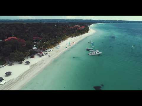 Negril - Seven Mile Beach by drone 4K