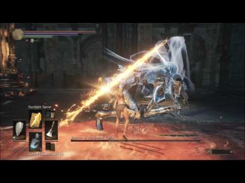 DS3 NG++: PvE Sunlight Spear Damage Example/Montage