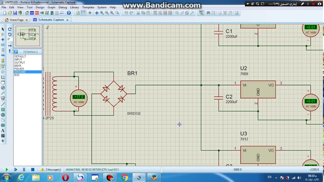 circuit diagram of 9 volt power supply [ 1280 x 720 Pixel ]