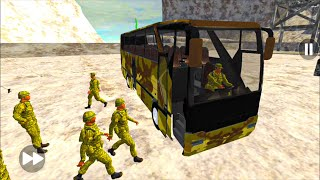 Army Bus Driver US Soldier Transport Duty - Real Military Coach Simulator - Android GamePlay#ABD149 screenshot 4