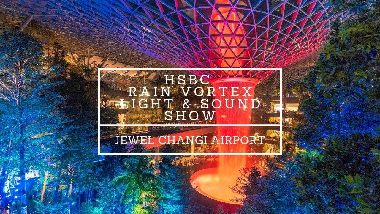 『新加坡』新加坡樟宜機 星耀樟宜 雨漩渦 Jewel Changi Airport HSBC Rain Vortex【錦來挑戰】 - YouTube