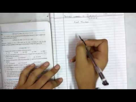 Chapter 1 real numbers maths class 10 exercise 1 2 (N C E R T IN English or  Hindi)
