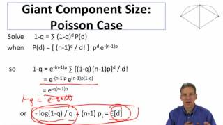 Social and Economic Networks 5.4 Week 5: Giant Component Poisson Case