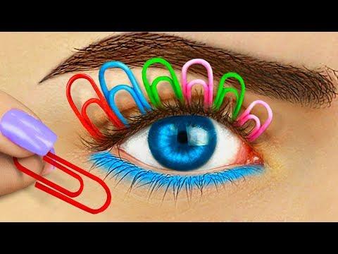 12 Weird Ways To Sneak Makeup Into Class / Back To School Pranks