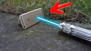 EXPERIMENT - Der stärkste Laser auf YouTube VS IPhone 6S