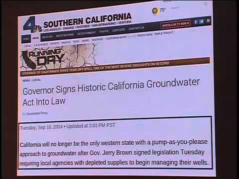 """Water In a Decade of Drought"" January 2015"