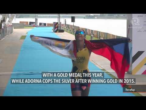 Mangrobang, Adorna pull off gold-silver finish in women's triathlon
