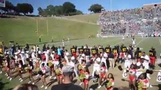 The Grambling State University Marching Band performing