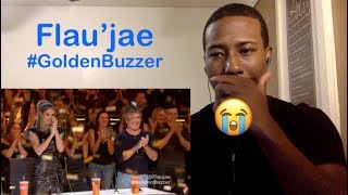 Flau'jae: 14-Year-Old Rapper Earns Golden Buzzer - America's Got Talent 2018 (Reaction Video)