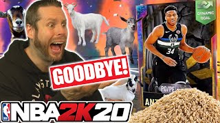END GAME GOAT PACKS!? Goodbye NBA 2K20 :-(