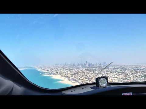 Gyrocopter around Dubai