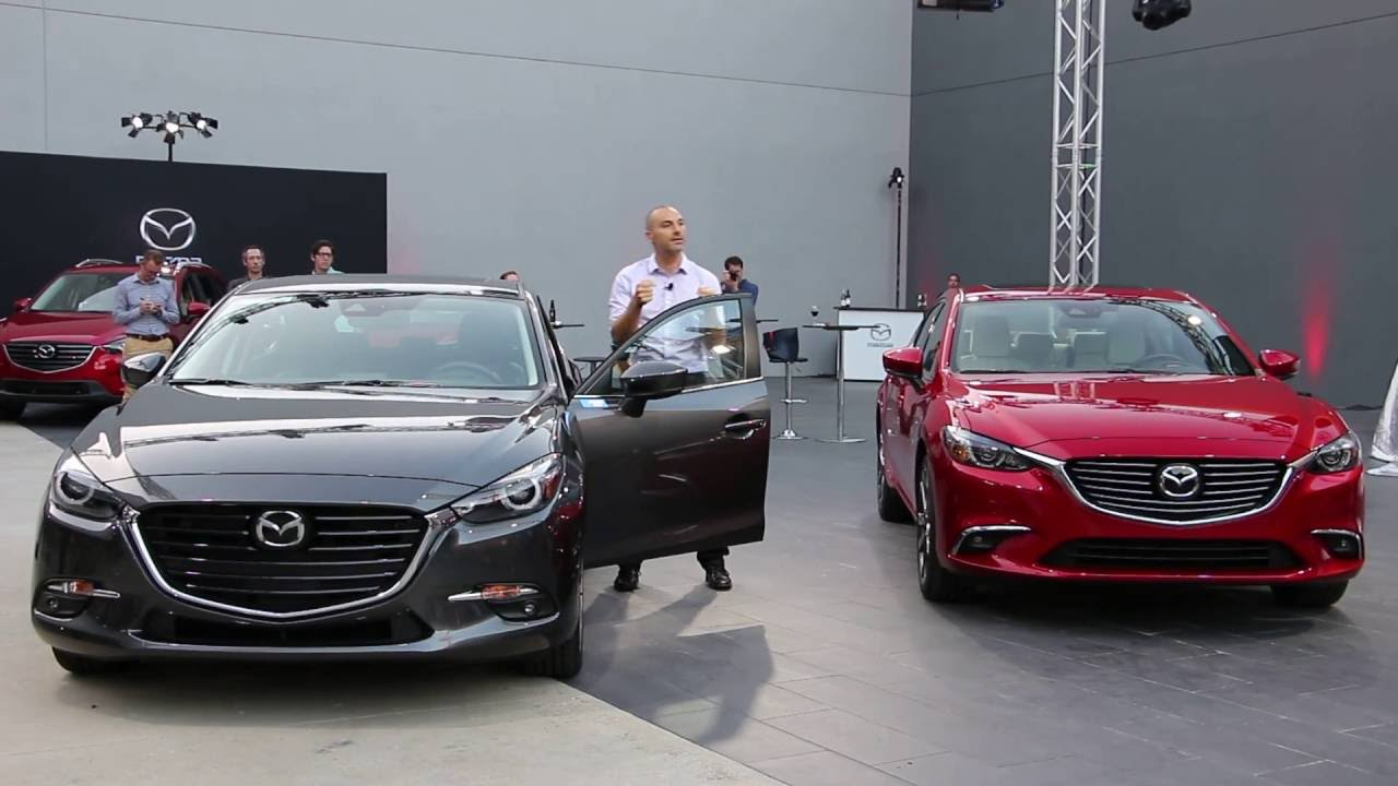 new 2017 mazda 3 & mazda 6 unveiled - youtube