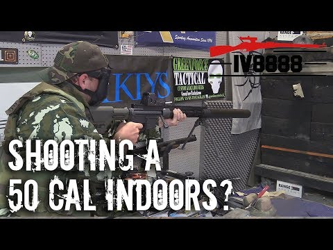 World's Quietest 50 Caliber? Shooting Indoors!