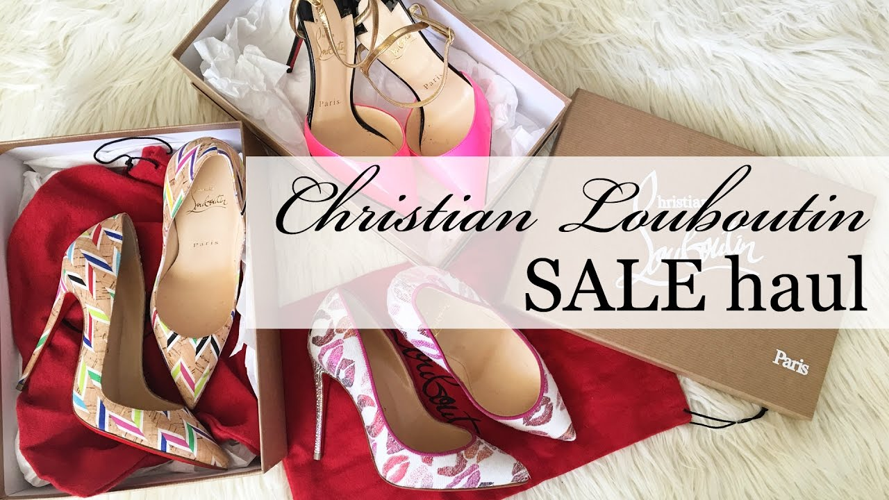 13e7455205c How to get designer shoes on sale + my Louboutin sale haul