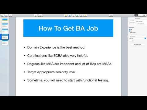 Tips for Business Analyst Jobs & Job Description