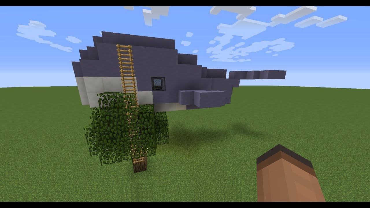 Making a flying whale house minecraft youtube for How to build a house in california