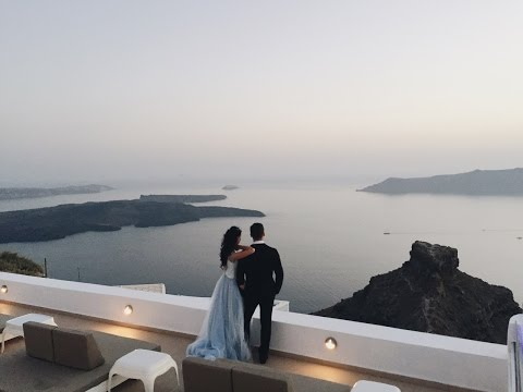 Teaser for the most beautiful wedding in Santorini