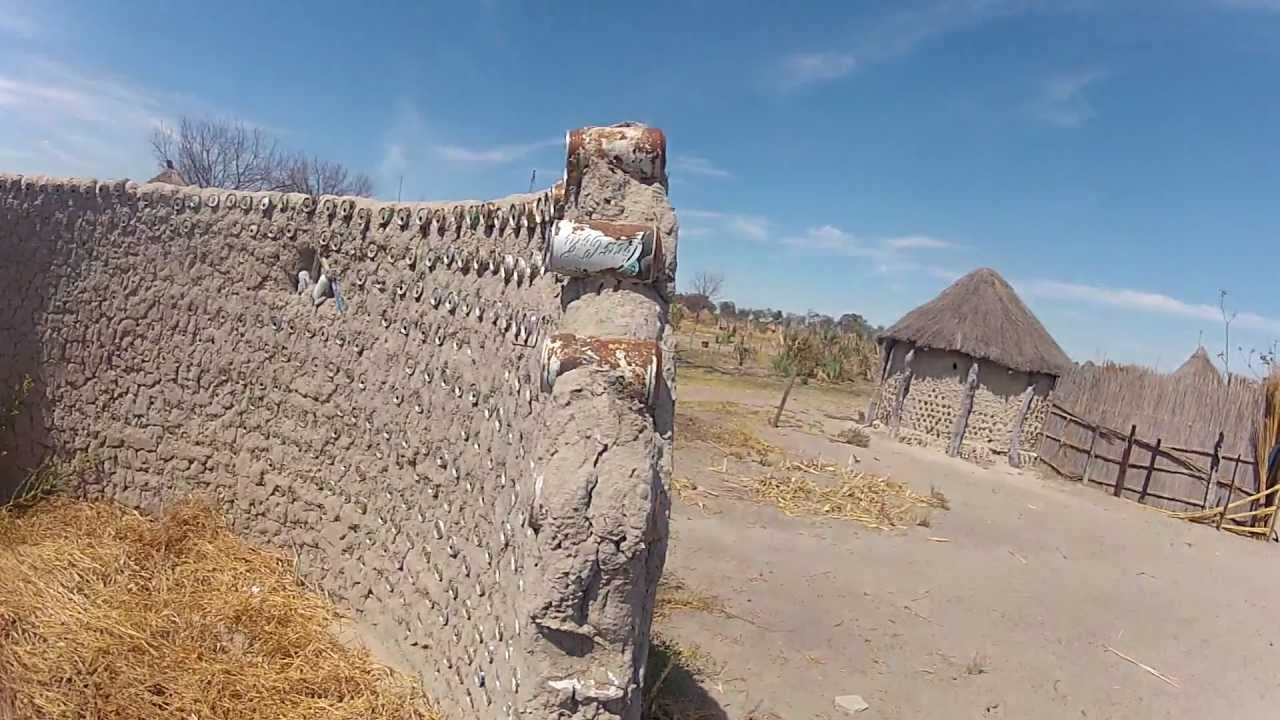 African House Made Out Of Mud Aluminum Cans Gopro Hero2 Youtube