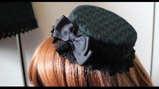 DIY: Matching (pillbox or regular) hat from scrap fabric for lolita (tutorial)