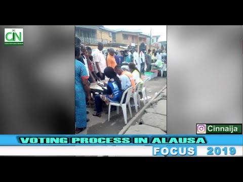 VOTING PROCESS AT ALAUSA, LAGOS STATE - #NIGERIADECIDES